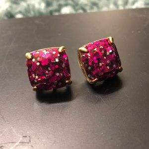 pink kate spade earrings !